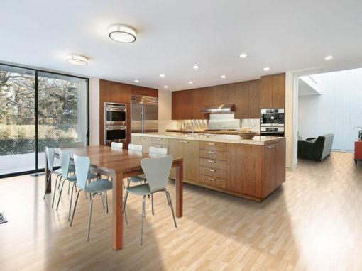 Modern Kitchen with Luxury Vinyl Tile