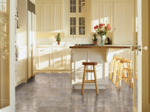 Traditional Vinyl Tile in Kitchen