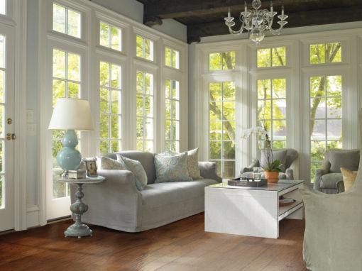 Hardwood Floors in Rustic Livingroom